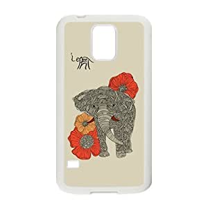 Beautiful flowers elephant Cell Phone Case for Samsung Galaxy S5 Custom SB.AO Case
