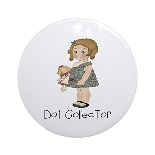 Primitive Raggedy Ann Doll (CafePress - Doll Collector Ornament (Round) - Round Holiday Christmas Ornament)
