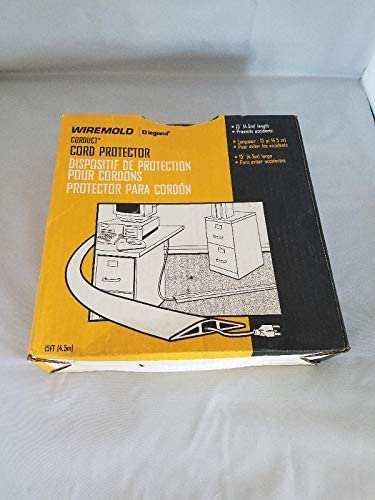 Wiremold CDI15 15` Ivory Corduct On-Floor Cord Protector