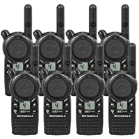 8 Pack of Motorola CLS1410 Two-way Radios with Programming Video