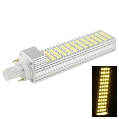 Luces Bombillas, Bombillas Led, G24 12W Blanco 52 LED 5050 SMD Horizontal Plug Bombilla