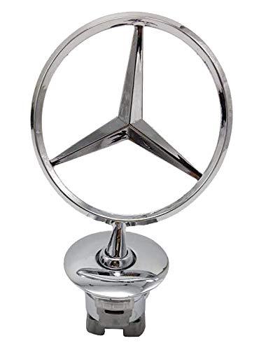 3D Emblem Car Logo Front Hood Ornament Car Cover Chrome Eagle Badge For Mercedes benz (Bright ()