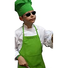 CHEFSKIN CHEF MUSHROOM HAT KIDS CHILDREN < LIME GREEN > ADJUSTABLE VELCRO, NICE POLYESTER FABRIC TOP QUALITY HAT, ADJUSTABLE VELCRO, DELIVERED IN 2-3 DAYS