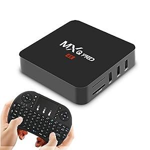 Android TV Box with Wireless Keyboard Remote Mini PC Smart Media Player Wifi 2.4G OTT 4K Box