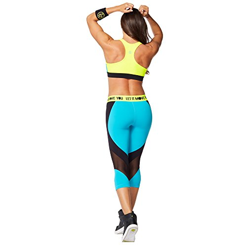 Zumba Fitness Keep On Glowing Soutien-gorge Fille Waterfall FR : L (Taille Fabricant : L)