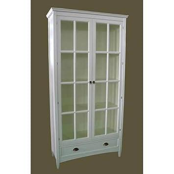 Amazon charleston bookcase with glass door white kitchen charleston bookcase with glass door white planetlyrics Choice Image