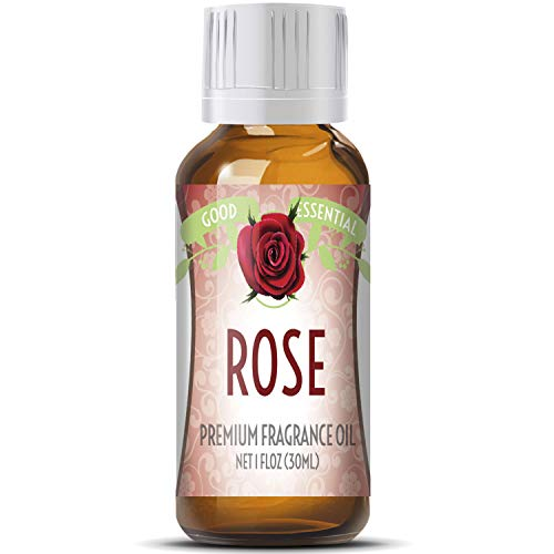 Rose Scented Oil by Good Essential (Huge 1oz Bottle - Premium Grade Fragrance Oil) - Perfect for Aromatherapy, Soaps, Candles, Slime, Lotions, and More!