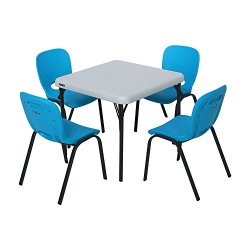- Lifetime Kids Table and Chair Set - Glacier Blue and Almond