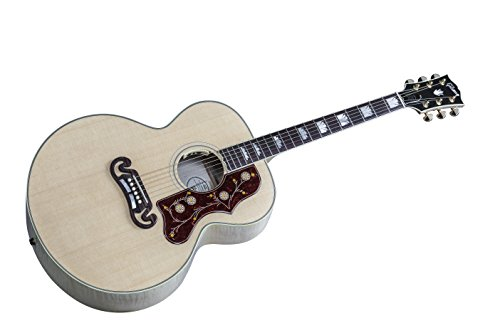 Gibson J 200 Standard Acoustic Electric Guitar Antique Natural Finish