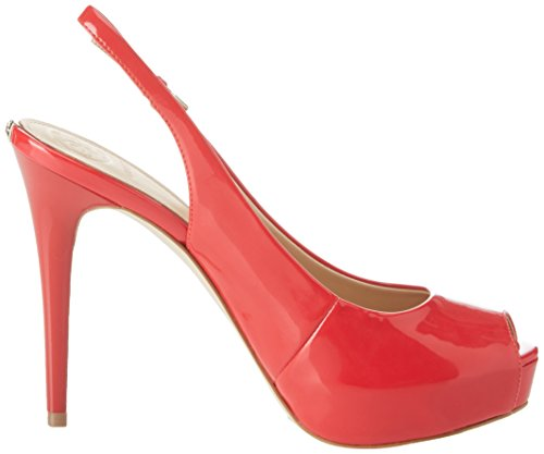 Scarpe Red con Tacco Donna Dress Guess Footwear Plateau col Medium Back Sling Rosso 00I7qw