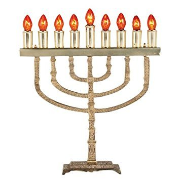 Solid Brass Traditional Electric Menorah