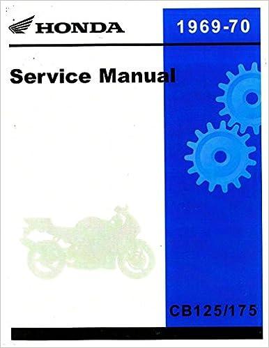 6230401 1969-1970 Honda CB125-175-CL125-175 Motorcycle Service Manual