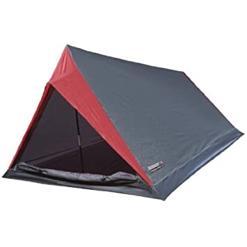 High Peak Minilite - Tienda de campaña para dos personas, tamaño 200x120/100x90/60, color gris/red: Amazon.es: Deportes y aire libre