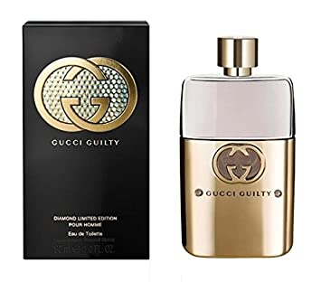 7a1195b8f Amazon.com : G U C C I Guilty Diamond Pour Homme Eau De Toilette Perfume  Spray (Limited Edition)3 Oz. New with Box : Beauty