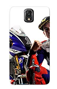 Crazinesswith Top Quality Case Cover For Galaxy Note 3 Case With Nice Jorge Lorenzo Appearance