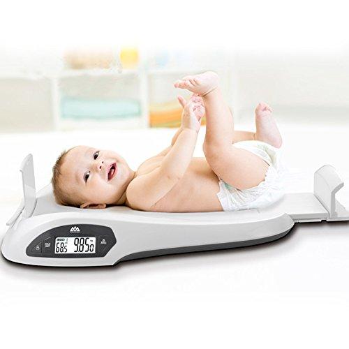 乳幼児の体重を正確に測定するためのマルチファンクションデジタルベビースケール、±5gの精度、80cm以内の高さ測定、0-20kgの測定、0-80cmの高さ、グレー (Blue)  Blue B07CXY5JKG