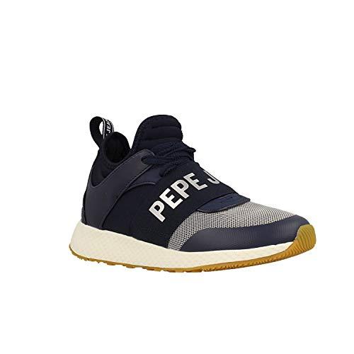 Sneakers Basses Bleu Pepe Jeans gris graphite Marine Logo Femme Koko 4wnt1fZtq