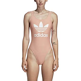 fceb740a24f1 adidas Originals Women s Trefoil Swimsuit at Amazon Women s Clothing ...