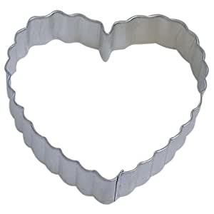 HEART SCALLOPED cookie cutter 4 IN. B1403
