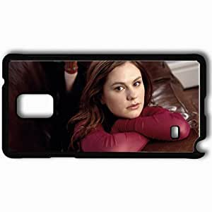 Personalized Samsung Note 4 Cell phone Case/Cover Skin Anna Paquin Actress Brunette Face Hair Sofa Black