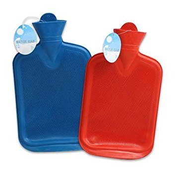High Quality Water - 2 Pk. High Quality Rubber Hot Water Bag, Red and Blue - 4 Qts
