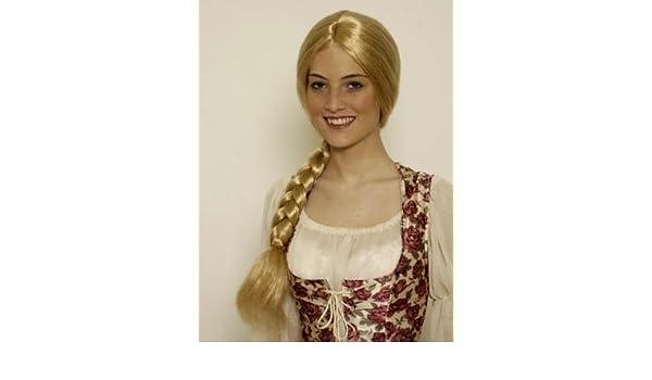 Rapunzel peluca de una cola de caballo, rubio: Amazon.es: Juguetes y juegos