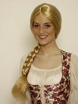 Rapunzel peluca de una cola de caballo, rubio