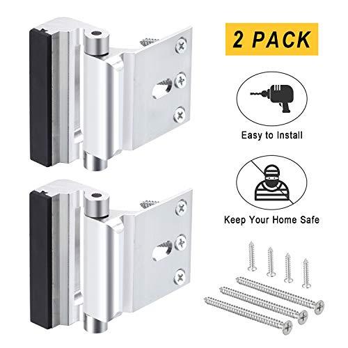 2Pack Home Security Door Lock,Child Safety Door Reinforcement Lock with 3