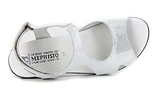 Mephisto - Sandalias de Vestir de Piel Vuelta Mujer blanco
