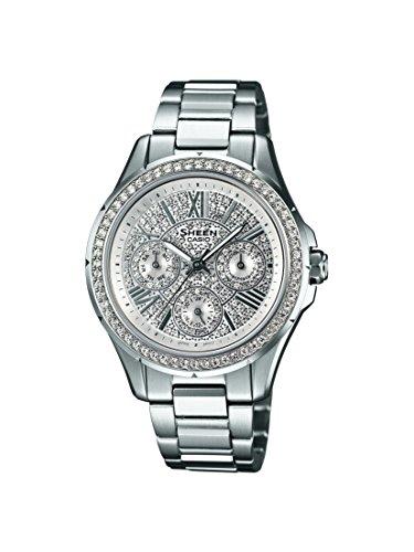 Casio SHE-3504D-7AUDR Ladies SHEEN Silver Steel Bracelet Watch