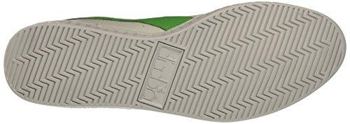Diadora Game L Low Waxed, Sandalias con Plataforma Unisex, 36 EU Blanco / Verde