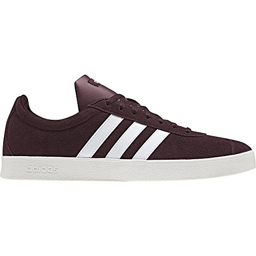 adidas Performance Men's VL Court 2.0 Sneaker,  Maroon/White/Cloud White,  9 M US by adidas