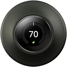 POPMAS Wall Plate-Metal Wall Plate Cover for Nest Thermostat 3rd, 2nd and 1st Generation Black