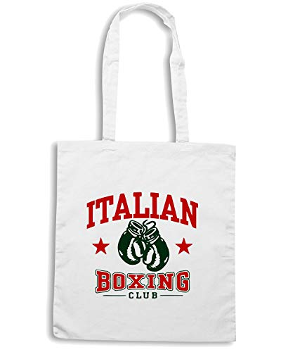Speed Shirt Borsa Shopper Bianca TBOXE0024 ITALIAN BOXING