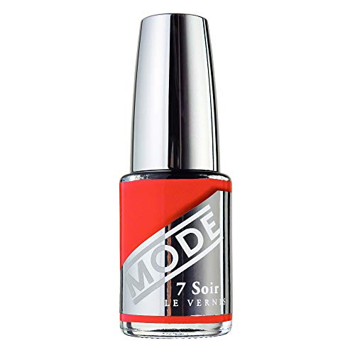 Mode, Nail Lacquer, Laughing One (Bold Blazing Coral Orange) .50 fl oz, 10 Free Nail Polish, Long Wear, Potent Color, Chip Resistant, Glossy, Pro Wide Brush, Cruelty Free, Vegan, Made in Beautiful USA