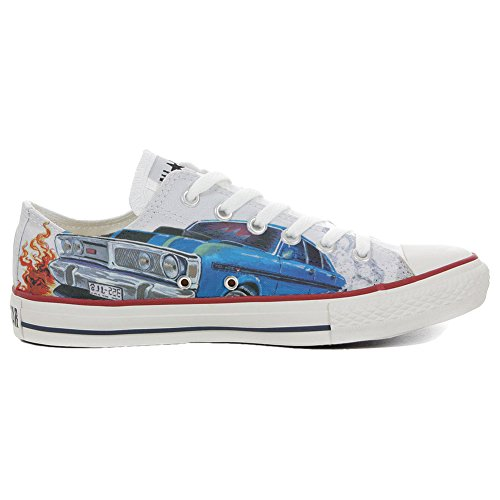 Converse Slim Schuhe Star personalisierte Low Handwerk Customized Schuhe All Chevrolet rwgqB8ar