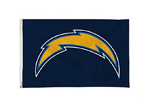 Rico NFL Los Angeles Chargers 3-Foot by 5-Foot Single Sided Banner Flag with Grommets