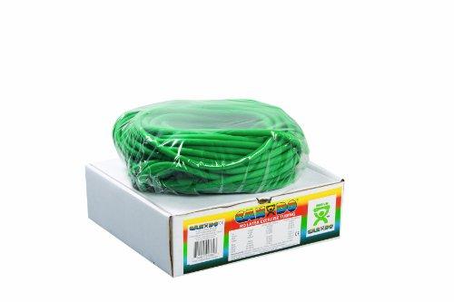 Latex Free Tubing - Cando 10-5723 Green Latex-Free Exercise Tubing, Medium Resistance, 100' Length