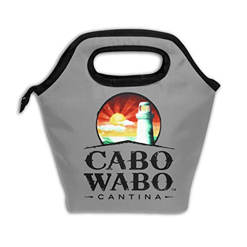 Cabo-Wabo-Cantina Insulated Lunch Bag Lunch Container Thick Reusable Insulated Thermal Cooler Tote Bag (Best Tequila In Cabo)