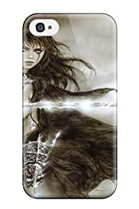 Hot Ready For Battle Dark Woman Fantasy Luis Royo Abstract Fantasy First Grade Tpu Phone Case For Iphone 4/4s Case Cover