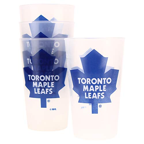 Leafs Travel Toronto Maple Mug (Whirley Drink Works NHL Frosted Plastic Tailgating Cups, 16oz.(4-Pack) (Toronto Maple Leafs))