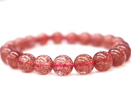 Natural AA Strawberry Quartz Beads Bracelet,Lepidochrosite Strawberry Quartz Bracelet,Bracelet Supply,Jewelry Bracelet,Bracelet Wholesale (9 inch, 4mm)