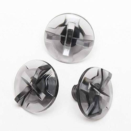 Shoei Cross Visor Screws for Offroad Helmet - Smoke 0245-1015-00