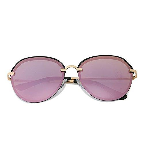 Mujer Frame Sol Elegante Gafas Personality Polarized Marco 5 Color Rosa Ultravioleta Gafas Cómodo Anti purple Negro Driving Sol de de Big Beach Black LANZHI frame x6nWw6