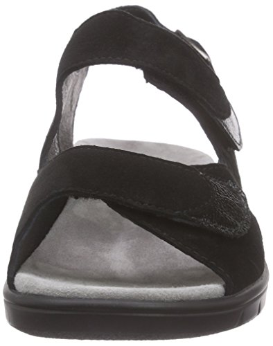 Semler Women's Dunja Fashion Sandals Black Schwarz (001 - Schwarz) vwEvXd1