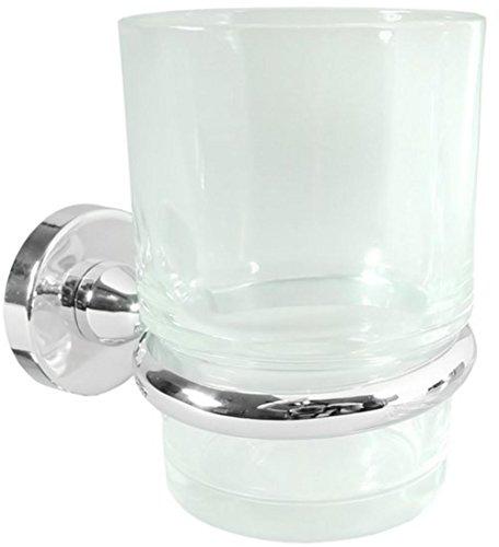 Deltana Zinc Toothbrush Holder w Glass - BBN Series (Set of 10) (Chrome) ()