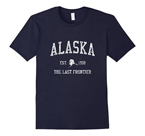 Mens Retro Alaska T Shirt Vintage Sports Tee Design Large (Alaska Tee)