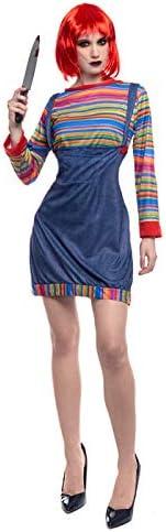 Partilandia Disfraz Muñeca Asesina para Mujer (S): Amazon.es ...