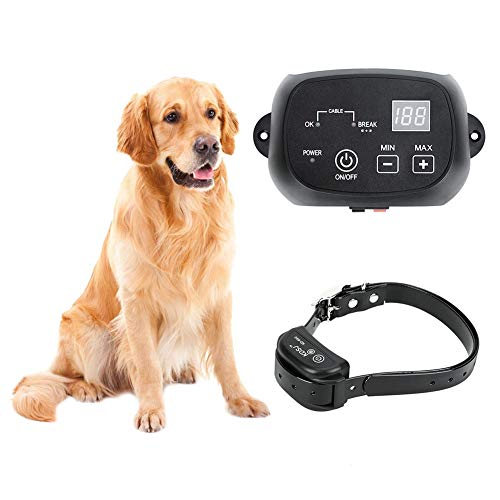 CEVENE Electric Dog Fence,Underground Invisible Fence for 1 Dog (in Ground Pet Containment System,650 Ft Wire,IP66 Waterproof and Rechargeable Collar,Tone/Static Correction) -