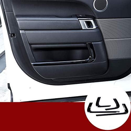 車のABSブラックカーインテリアドアトリムストリップに適していますランドローバーレンジローバースポーツRRスポーツ2014-2019